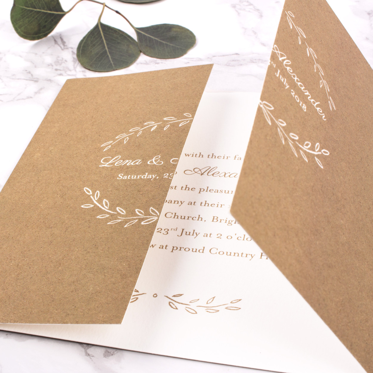 Poem Gatefold Wedding invitations