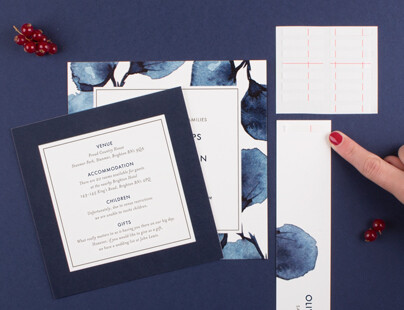 Step 2 how to use wedding invitation belly bands