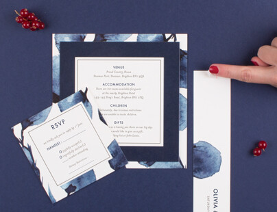 personalise and use wedding invitation belly bands from rosemood
