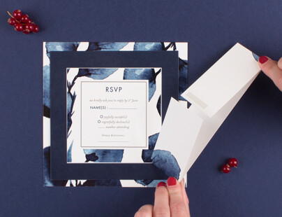Step 4 how to use wedding invitation belly bands