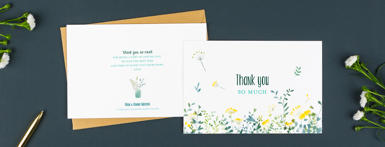 Wedding Thank You Card Wording Ideas From Rosemood