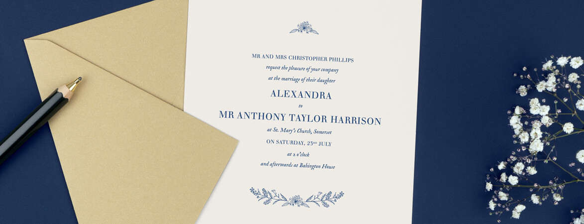 Natural Chic classic wedding invitations