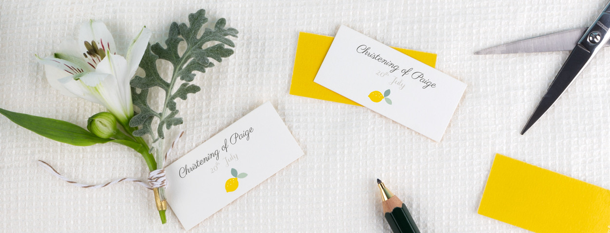 Christening gift tags for christening favours