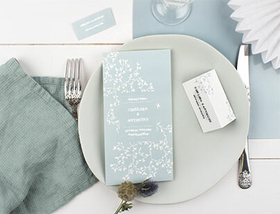 On-the-day wedding stationery
