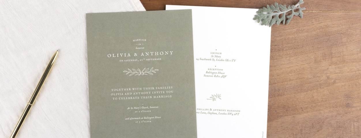 Provence vintage wedding invitations