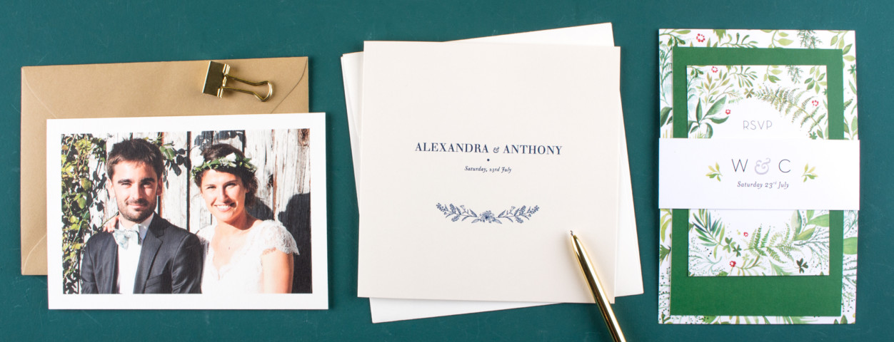 Free personalised samples of your wedding stationery
