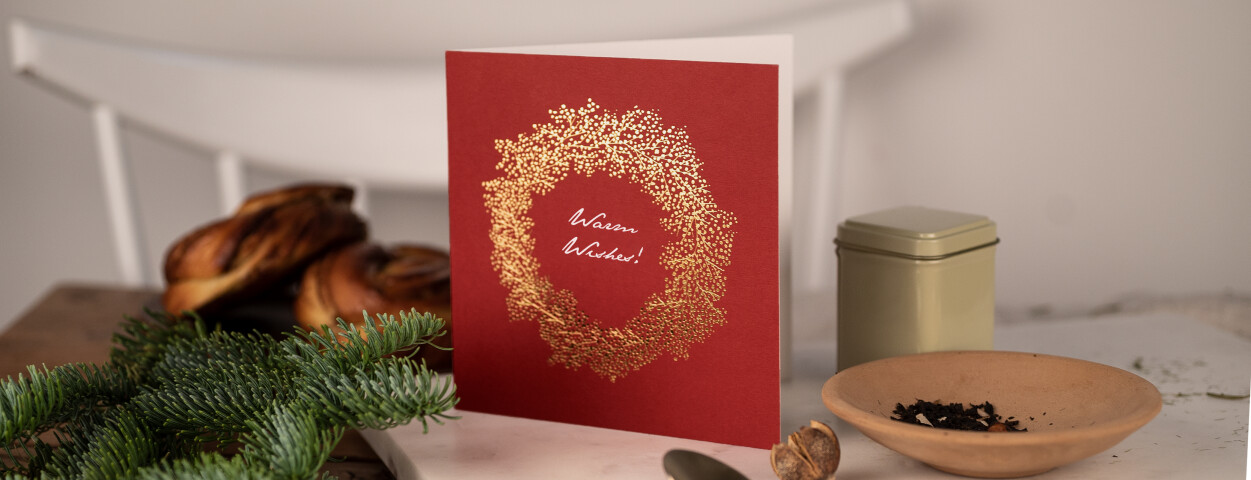 Foil stamped Christmas card