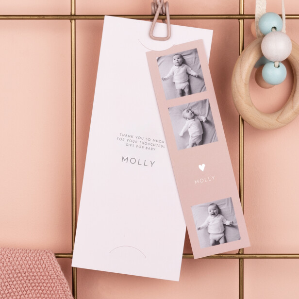 Bookmark baby thank you cards