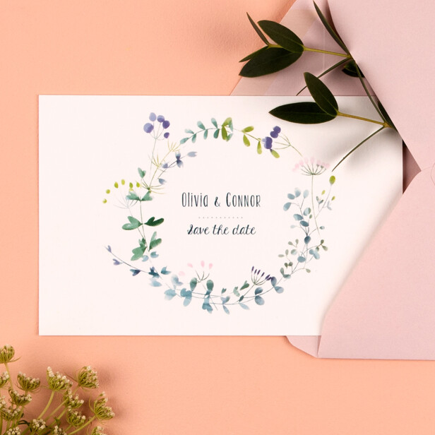 Summer night Save the date cards