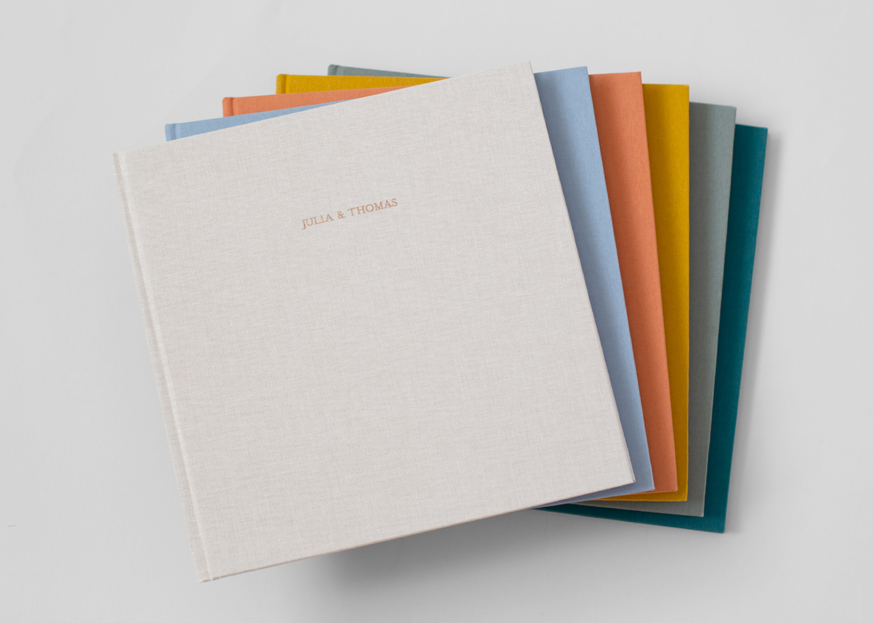 Fabric hardcover photo albums